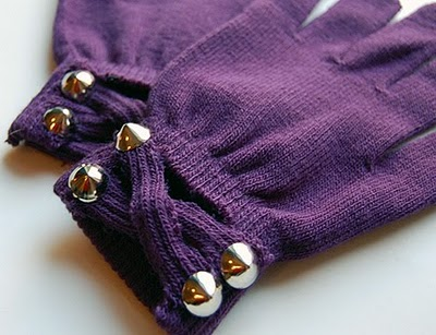 Studs and Pearls Embellished Gloves
